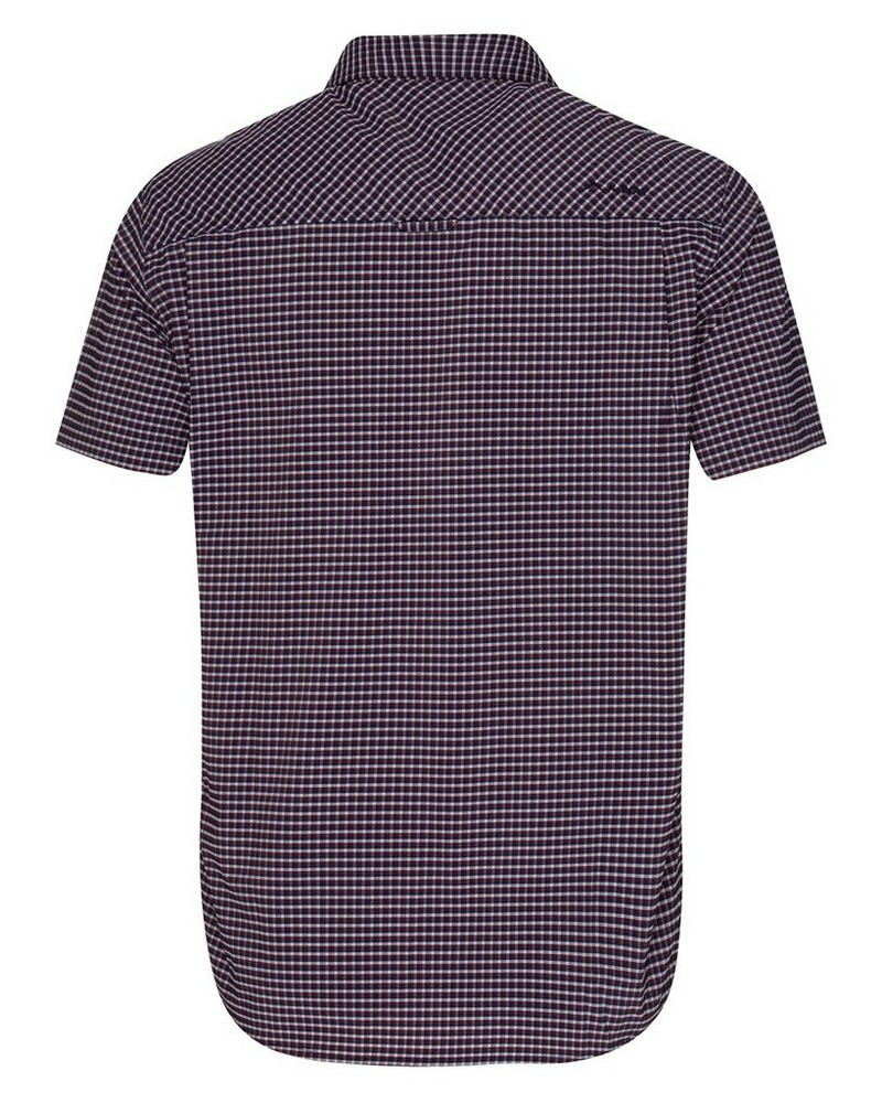 K-Way Explorer Vaillant s-s Check Shirt Mens -  oxblood-navy