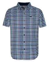 K-Way Explorer Vaillant s-s Check Shirt Mens -  navy-white