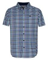 K-Way Men's Explorer Vaillant Short Sleeve Check Shirt -  navy-white