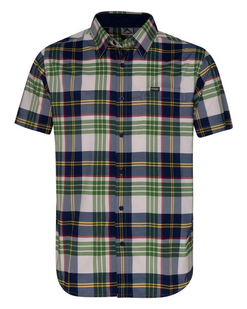 K-Way Explorer Vaillant s-s Check Shirt Mens -  green-navy