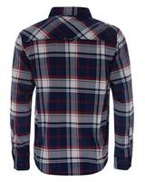 K-Way Men's Explorer Beaufort Long Sleeve Check Shirt -  navy-red