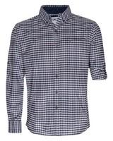 K-Way Men's Explorer Beaufort Long Sleeve Check Shirt -  navy-oxblood