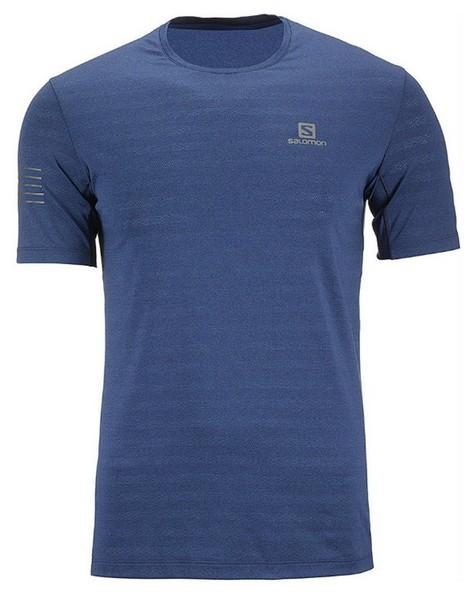 Salomon Men's XA Short Sleeve Tee -  blue