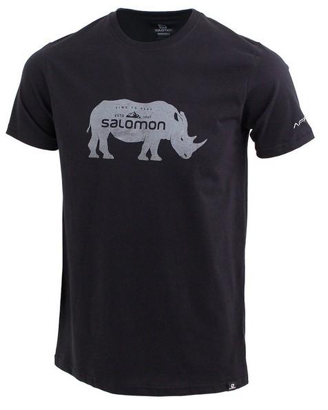 Salomon Men's Ubhejane Short Sleeve Tee -  black