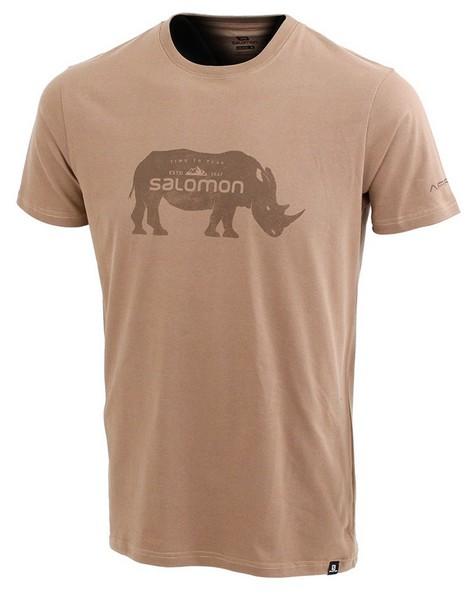 Salomon Men's Ubhejane Short Sleeve Tee -  khaki