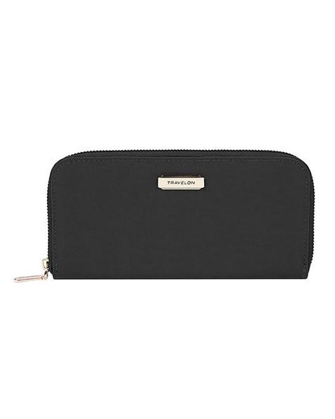 Travelon Women's RFID Blocking Bouquet Wallet -  black