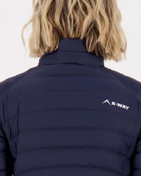 K-Way Women's Swan Down Jacket -  navy-navy