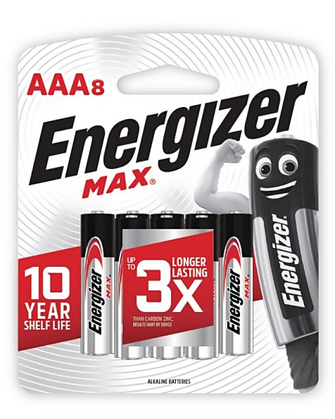 Energizer Max AAA Batteries (8 Pack) -  nocolour