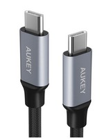 Aukey Braided 2.0 USB Type C Cable - 1m -  black-silver