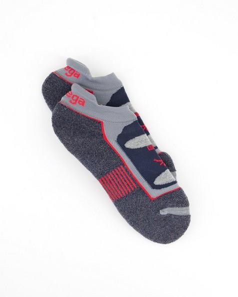 Balega Enduro Quarter Sock -  grey-cobalt