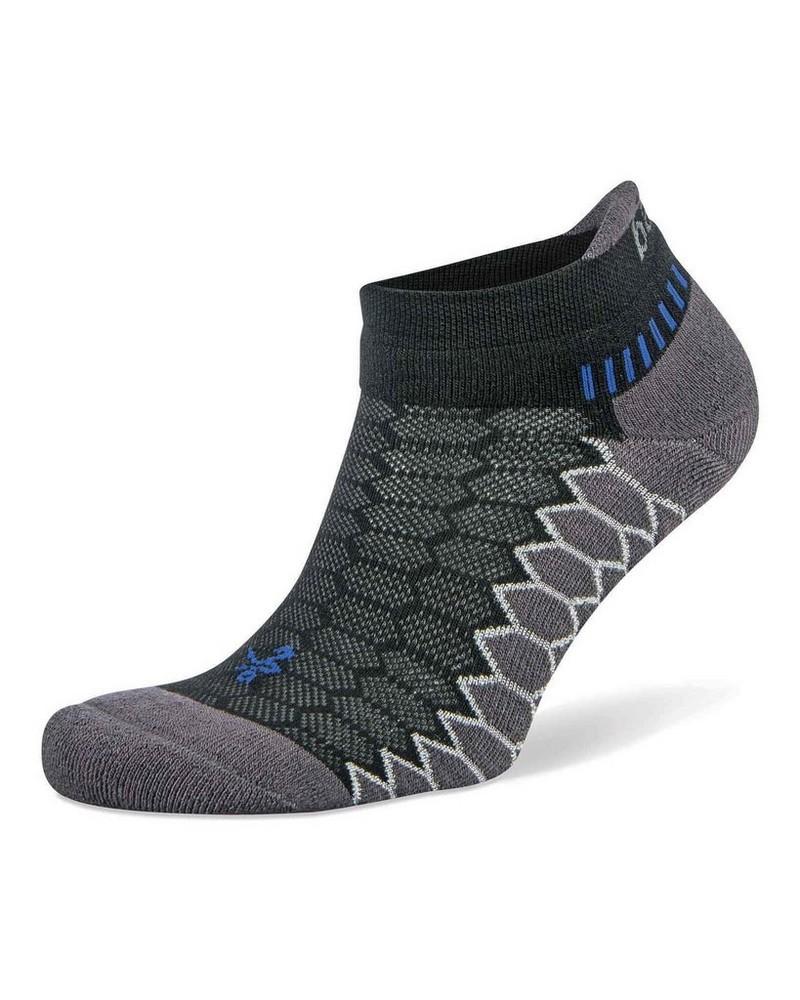 Balega Unisex Silver No Show Running Sock -  black-black