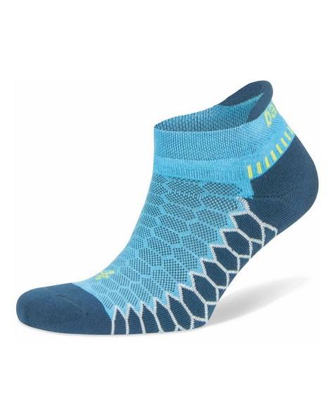 Balega Unisex Silver No Show Running Sock -  turquoise