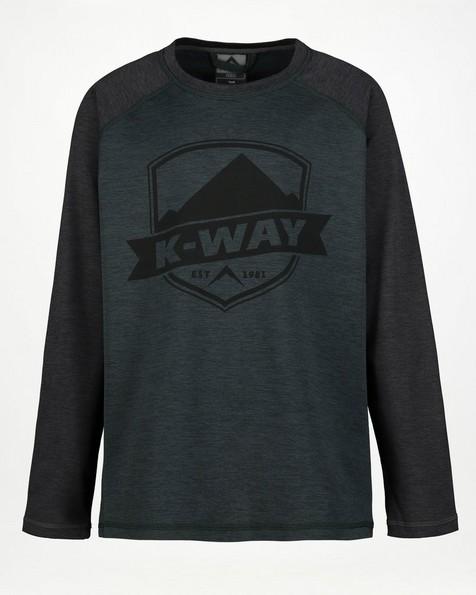 K-Way Kids' Mckinley Lightweight Fleece -  black-darkgreen