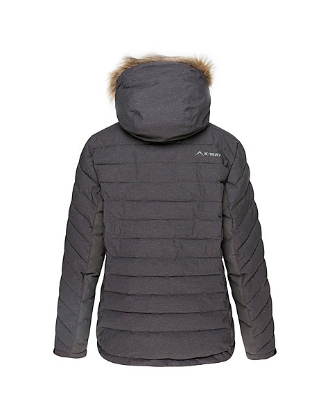 K-Way Women's Glacier Ski Jacket  -  darkcharcoal