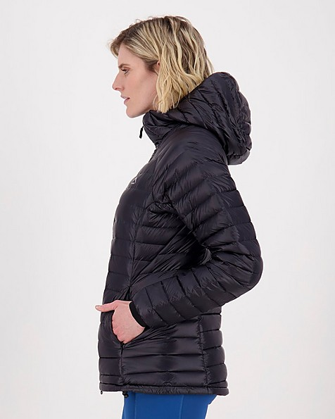 K-Way Women's Martine Hooded Jacket -  black