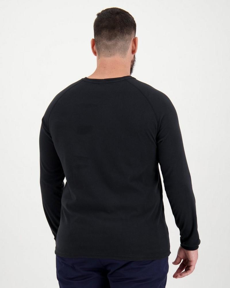 K-Way Men's Straus '19 Crewneck Fleece  -  black