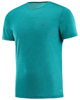 Salomon Men's Cosmic Crew Short Sleeve Tee -  turquoise
