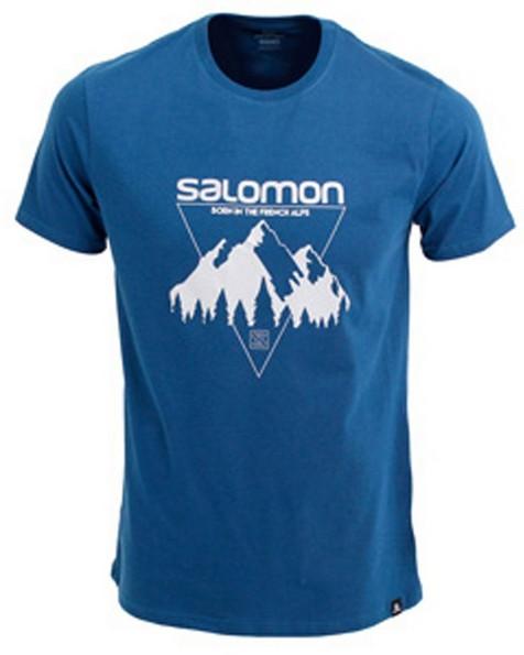 Salomon Men's Stormberg Short Sleeve Tee -  blue