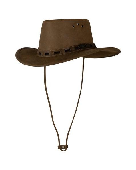 Cape Union Sullivan Leather Hat -  brown