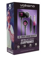 Volkano Alloy Aux Earphones -  purple