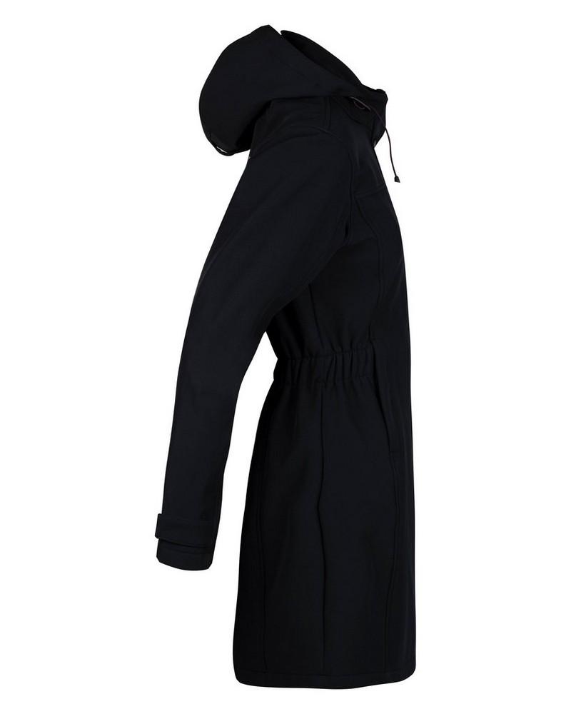 K-Way Women's Azalea Softshell Coat  -  black-berry