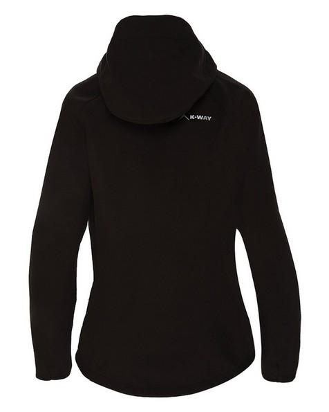 K-Way Women's Eliana Softshell Jacket -  black-black