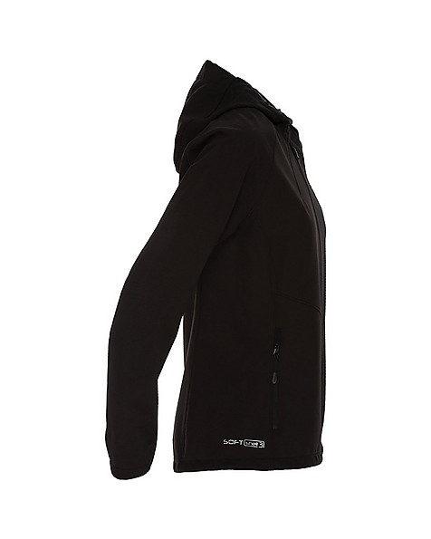 K-Way Women's Eliana Softshell Jacket -  black