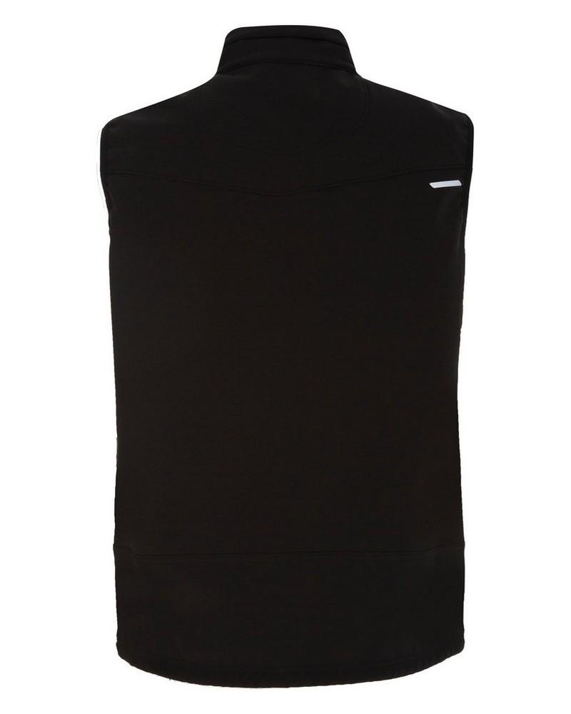 K-Way Men's Finch Softshell Bodywarmer -  black