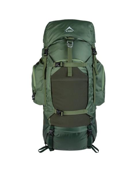 K-Way Adventure 60 + 10L Hiking Pack -  green-green