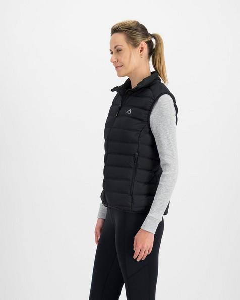 K-Way Signa Down Vest Lds -  black
