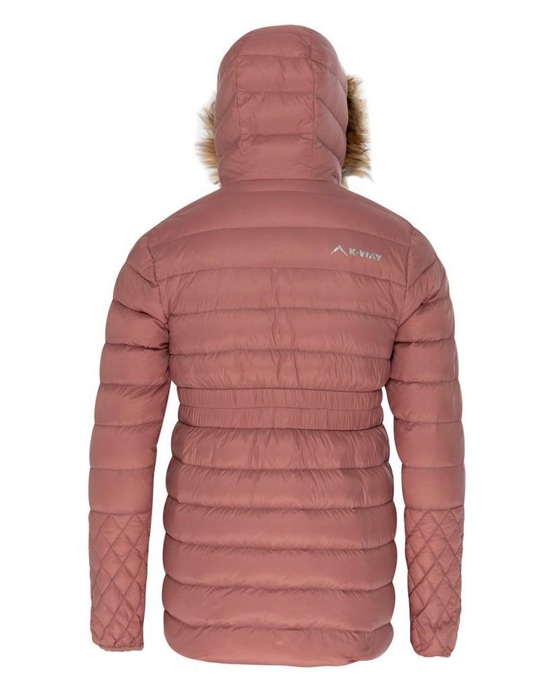 K-Way Youth Jessi Down Hoody Parka Jacket -  dustypink