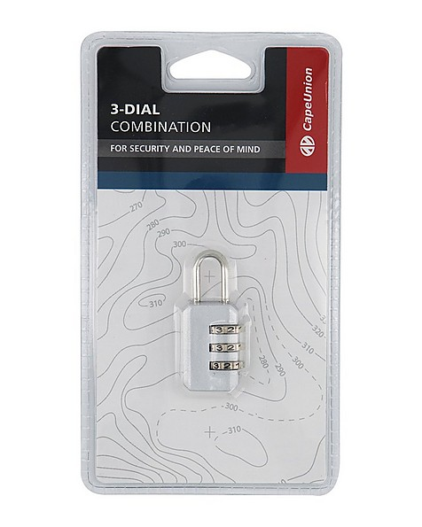 Cape Union 3-Dial Combination Lock -  silver