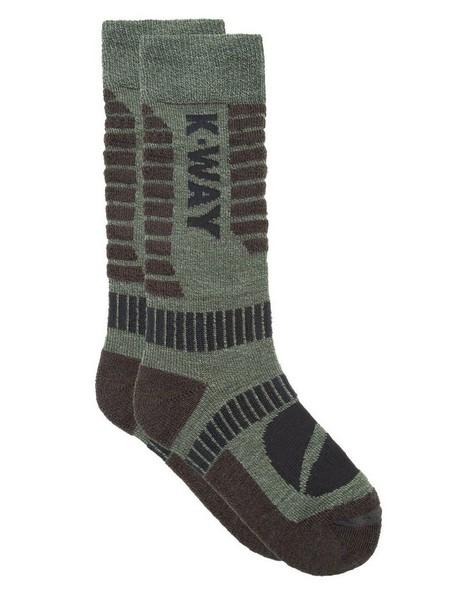 K-Way Hiker '19 Sock -  darkolive-lightolive