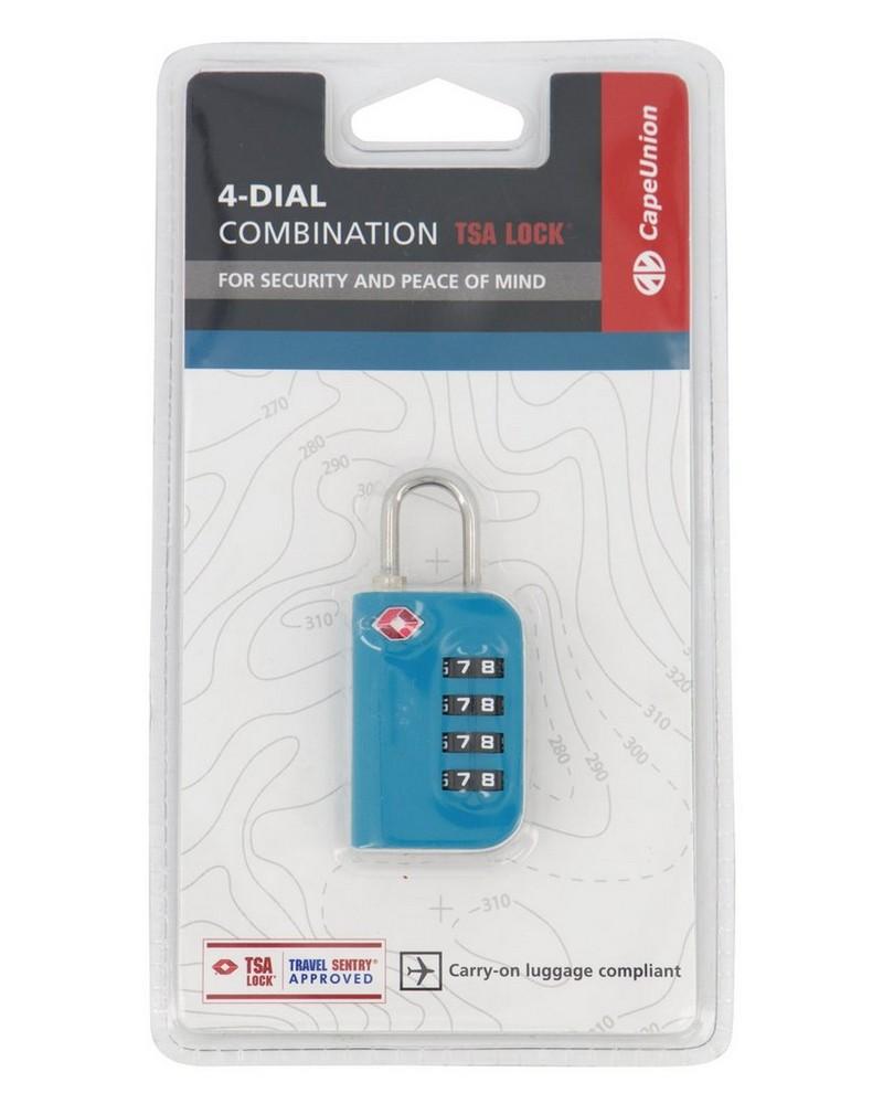 Cape Union 4-Dial TSA Combination Lock -  teal