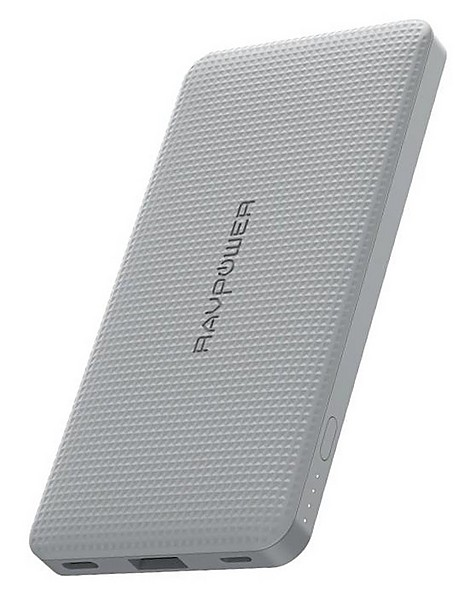RavPower Blade 10 000mAh Power Bank + Pouch -  grey