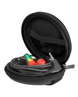 Volkano Halo Series Round Earphone Case -  black