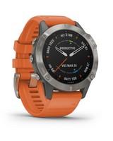 Garmin Fenix 6 Sapphire - Titanium -  grey-orange