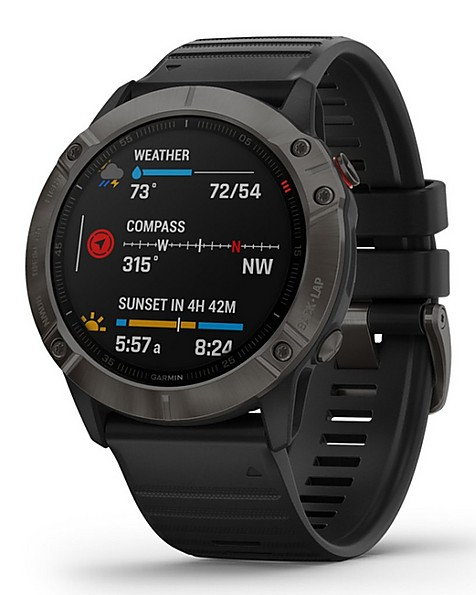Garmin Fenix 6 X Sapphire Watch -  grey-black