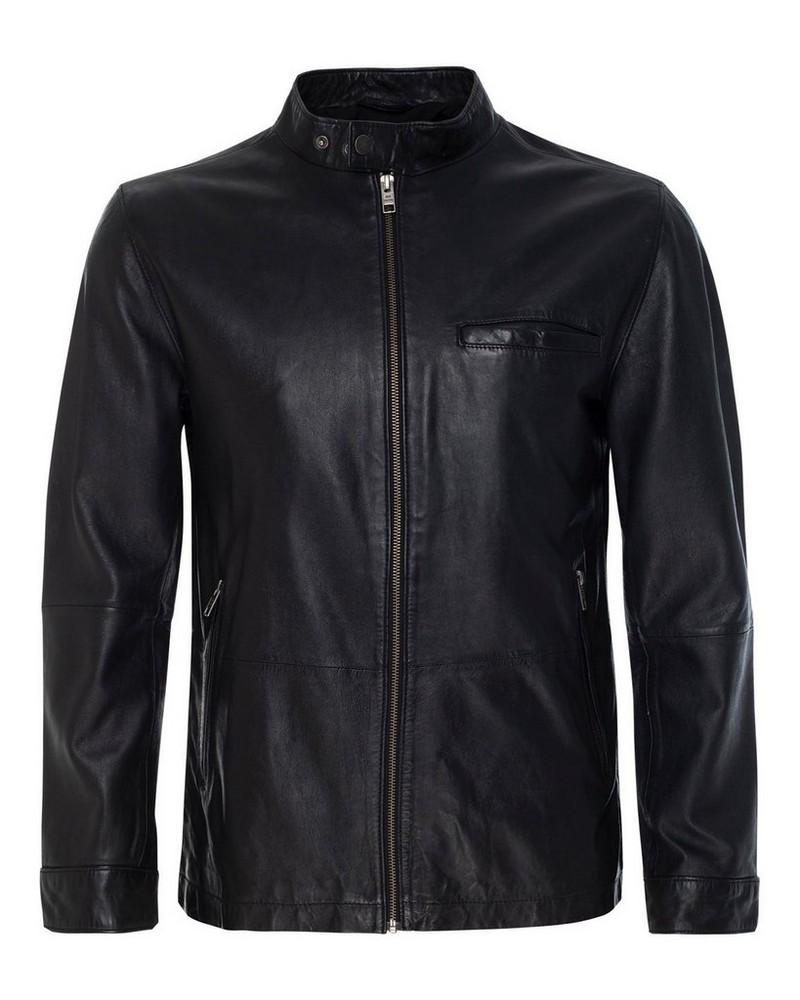 Old Khaki Men's Royce Leather Jacket  -  black