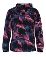 K-Way Printed Cloudburst Jacket Lds -  black-lightpink