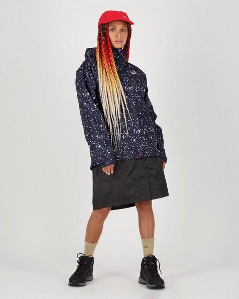 The K-Way Women's Printed Cloudburst Jacket -  indigo-lightpink
