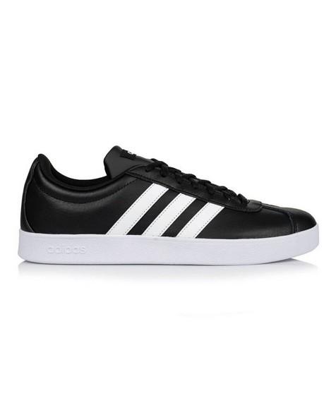 Adidas Men's VL Court 2.1 Sneaker -  black