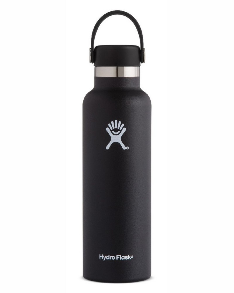 Hydro Flask 621ml Standard Mouth Flask -  black