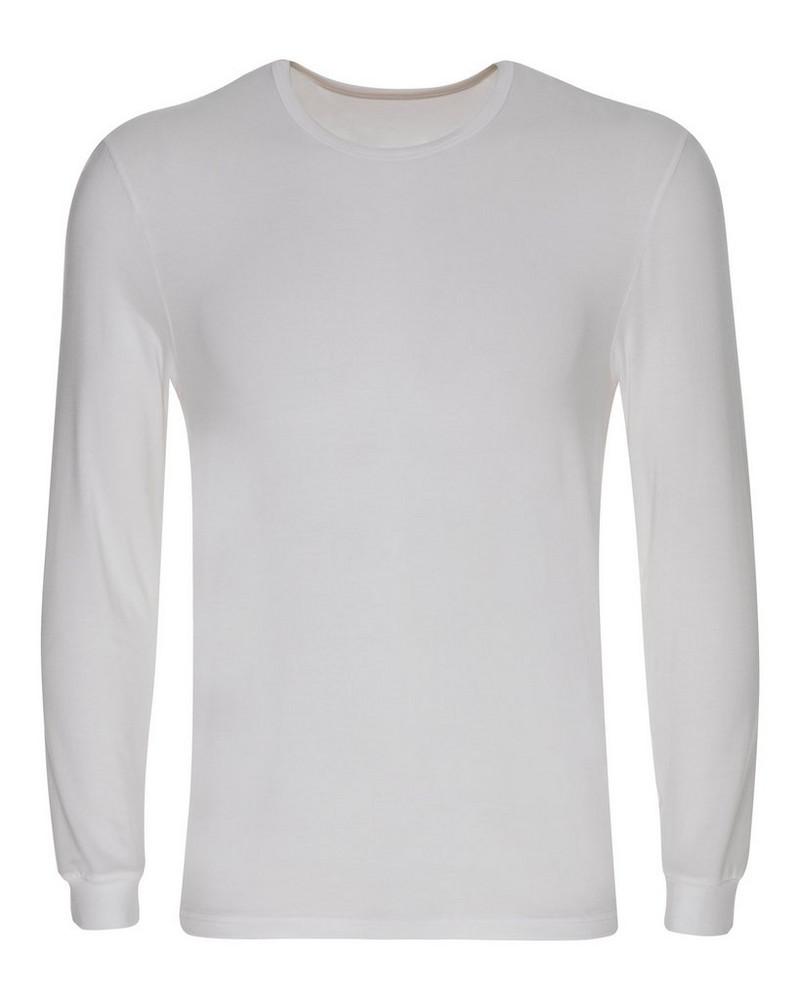K-Way Men's Beechwood Modal Long Sleeve Vest -  white
