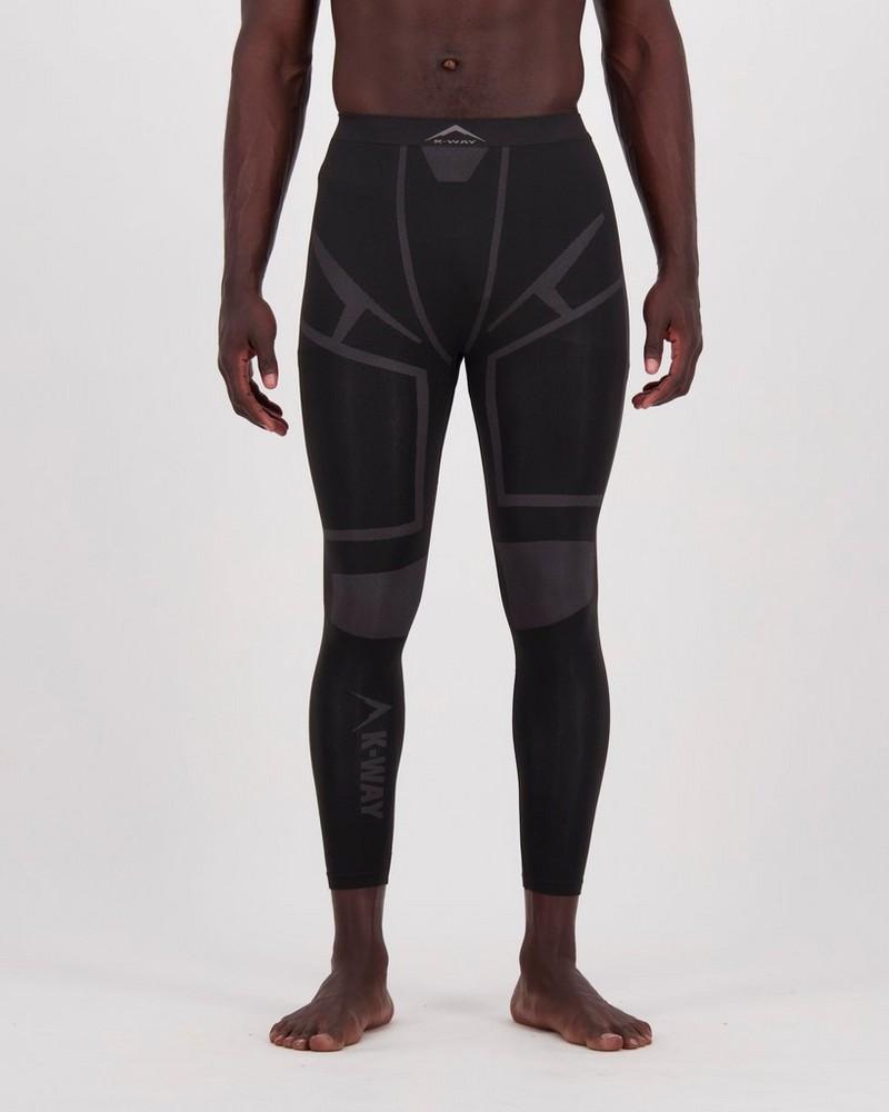 K-Way Men's Bamboo Thermaskins Long John -  black