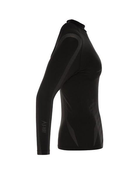 K-Way Women's Bamboo Thermaskins Spencer -  black-graphite