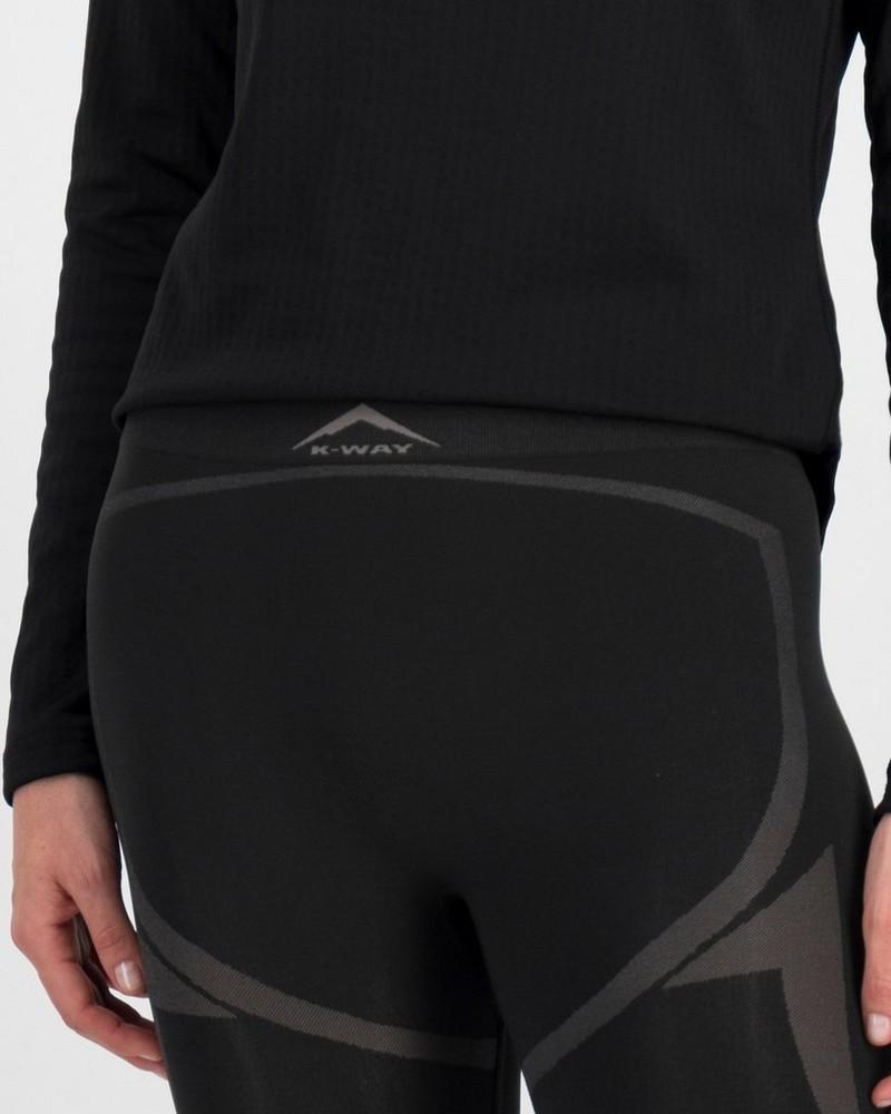 K-Way Women's Bamboo ThermaSkins Slaxliner  -  black-graphite