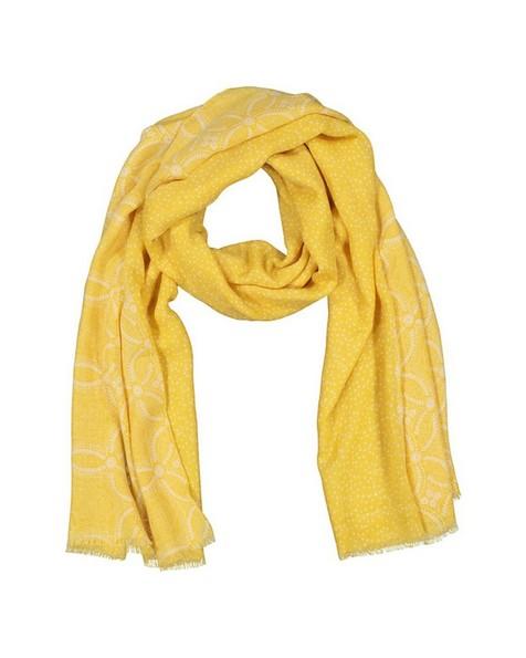 Rare Earth Women's Kadence Floral and Dot Scarf -  yellow-milk