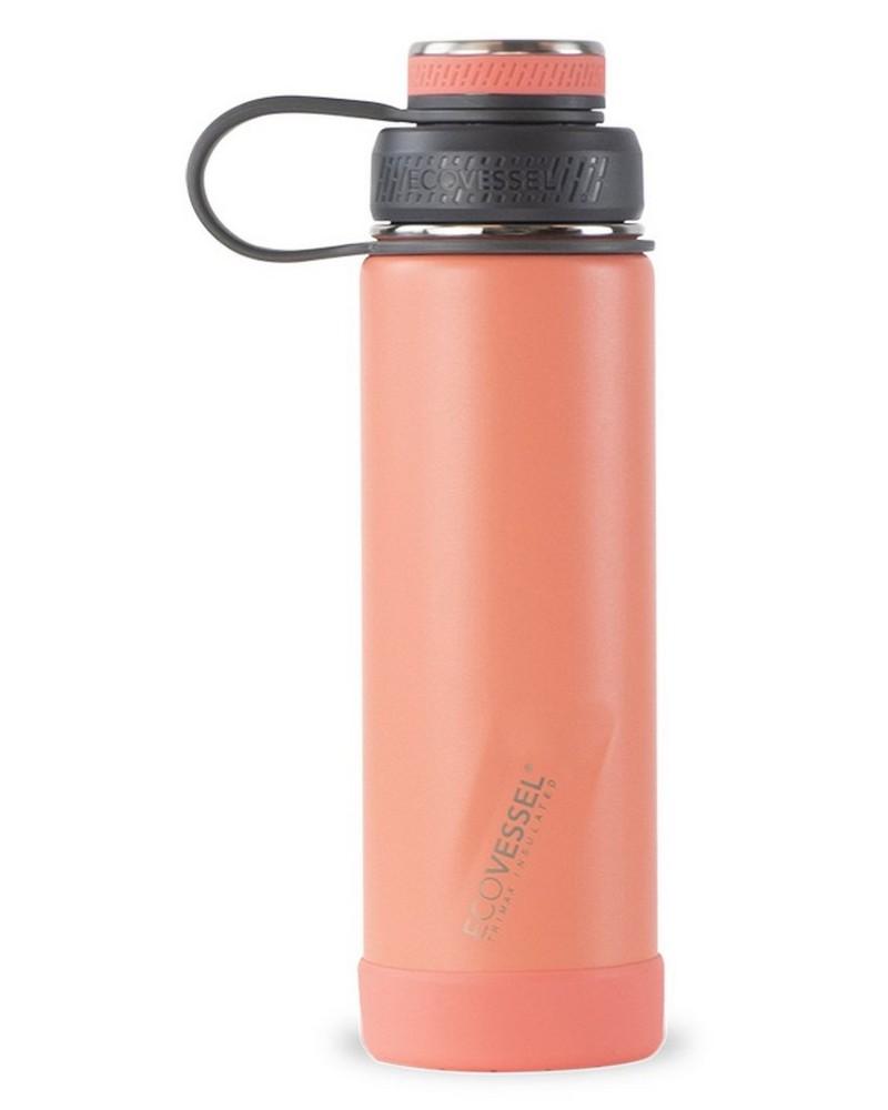 Ecovessel Boulder 20oz 591ml Bottle -  coral