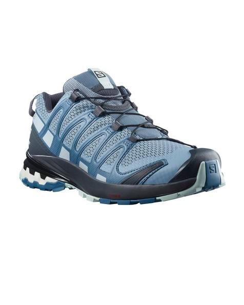 Salomon Women's XA Pro 3D V8 Shoe  -  mid-blue